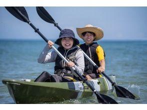 【福岡・宗像市】道の駅宗像の裏にある北斗の水くみ海浜公園(海岸)で2人乗り4時間カヤック体験!釣りもできます