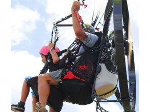 【Ibaraki】 Let's fly in the sky of Tsukuba with veteran instructor! Image of motor paraglider experience