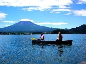 [Yamanashi/ Lake Kawaguchi] Canadian canoe experience (120 minutes) Lake cruise and infants are OK while watching Mt. Fuji!