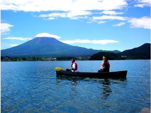 【山梨・河口湖】カナディアンカヌー体験(120分)富士山を見ながら湖上クルーズ・幼児もOK!