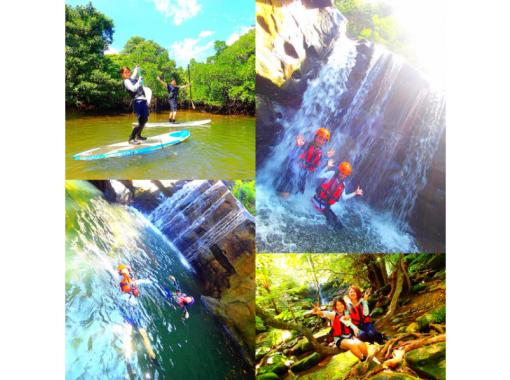 【西表島】夏のおすすめ滝ダイブで遊ぶ!a9.マングローブSUP・カヌー×秘境パワースポット巡×キャニオニング【ツアー写真データ無料プレゼ】