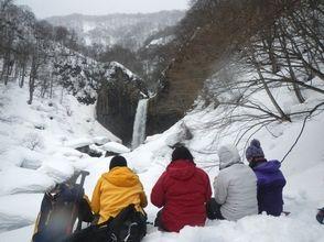 【新潟・笹ヶ峰】百名瀑を見よう!スノーシュー体験(苗名滝周遊コース)の画像