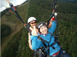[Miyagi/ Izumigatake] For beginners! Paragliding tandem flight experience (two-seater) can be experienced from 6 years old!