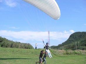 【愛知・初心者向け】Web割!1人乗り体験パラグライダー&タンデム遊覧飛行セットコースの画像