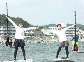 【Shonan · Kamakura, for beginners】 SUP Experience School 1 hour + Tool Rental 2 Hour Course + Photo Present image