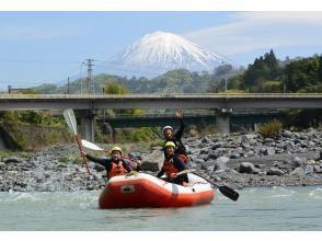 【静岡・富士川】ラフティングツアー+1800円ベーシックBBQセット(AM/PM 半日コース)の画像