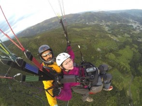 【Iwate with paraglider】 Altitude 700m! Pounding tandem flight (two-seater) experiences (half-day course) of pounding
