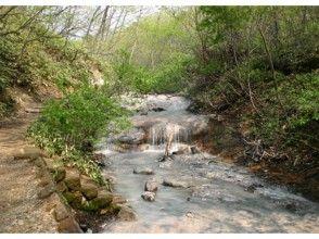 """[北海道登別市]特別! """"地獄谷登別天然足浴指南溫泉世界唯一的天然河流的徒步旅行""""溫泉到足浴"""