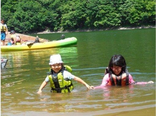 【群馬/水上】3歳から乗れる!のんびり湖上のお散歩カヌーツアー(半日)ツアー中の写真無料!の紹介画像