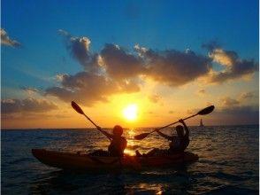 【沖縄・読谷村】西海岸に沈む夕日を見ながらサンセットカヤッククルージング☆の画像