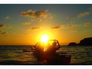 【恩納村開催】シーカヤックで行く無人島サンセトツアー☆沖縄到着日も参加OK☆写真データプレゼント♪