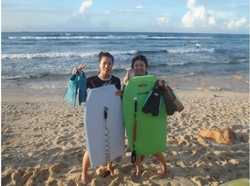 [Regional common coupon] [Okinawa / Nakagami-gun] Sponsored by the World Surfing Federation instructor! Body board School! Free photos and With a shuttle busの紹介画像