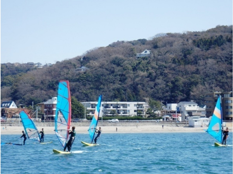 【Shonan · Zushi】 Introduction picture of the Zushi coast best suited for windsurfing for the first half-day experience (first time limited)
