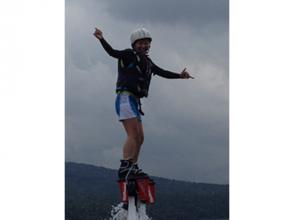 [山梨-Lake Yamanaka]飛船體驗<用水壓在天空中飛翔! >