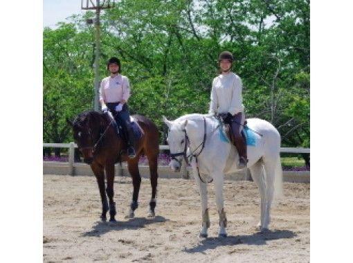 【兵庫/明石・東播磨】平日限定!お友達と一緒に練習!乗馬体験(ペアレッスンコース)