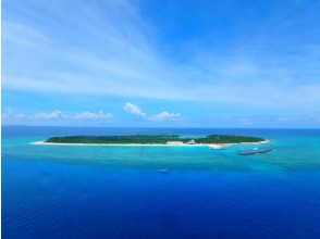 [Okinawa ・ Minnajima Island] One day sea bathing & experience Diving or Parasailing(Plan B)