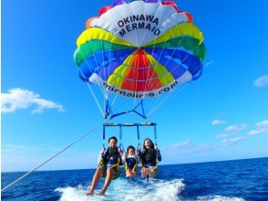 Parasailing experience ☆ Take a walk in the air while looking at the beautiful sea!