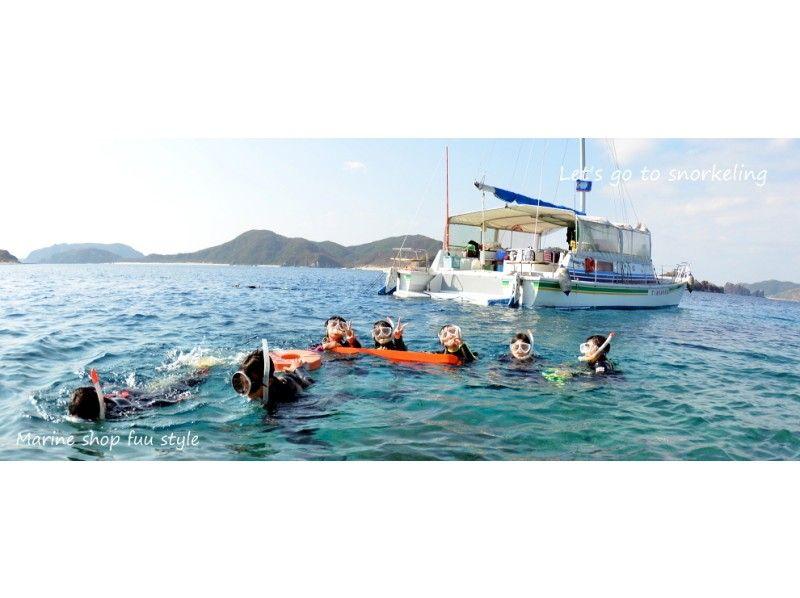 【沖縄 座間味島】GoToトラベル地域共通クーポン利用可能!座間味タイムを十分楽しむボートシュノーケリングコースの紹介画像