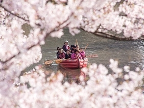 【Eボート桜ツアー】小さなお子様も安心!富山いたち川・春のお花見クルーズ(ショートコース)