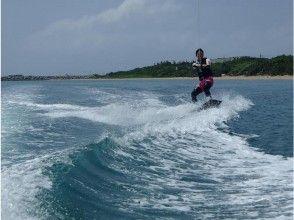 【沖縄・石垣】自由に滑りたい経験者の方へオススメ! フリートーイング1set【ウェイクボード】の画像