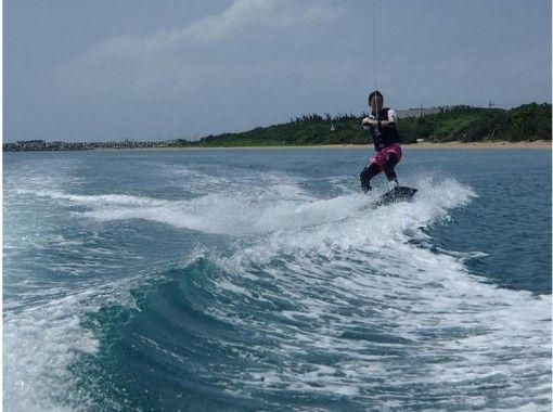 【沖縄・石垣】自由に滑りたい経験者の方へオススメ! フリートーイング1set【ウェイクボード】