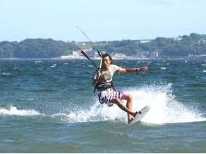【Kanagawa · Miura Coast】 For experienced people! Image of the kite board experience step-up course (3 hours)