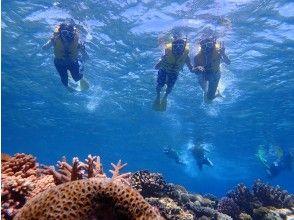 [Okinawa ・ Minnajima Island] Day trip sea bathing & boating Snorkeling(D plan)
