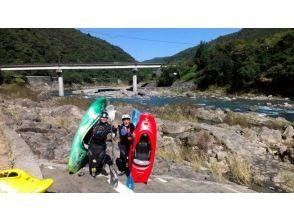 【春野町・気田川】カヤックの基礎が学べます!ベーシックスクール(1日)の画像