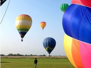 [Tochigi ・ Watarase area] Recommended for the anniversary! Hot air balloon 45 minutes private flight course