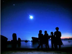【沖縄・恩納村】夜光虫&星空ナイトシュノーケル★サンセットを眺め、洞窟を探検。星空の下で輝く夜の海!(写真撮影サービス付)