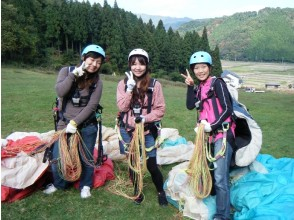 [Hyogo ・ Kannabe Kogen] The first person is safe Paragliding Experience flight (1 day course)