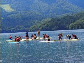 [长野·青木湖长野在县内最透明,北阿尔卑斯山的镜子,青木湖的第一个SUP(2小时)