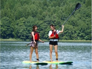 88f55671f584 [Nagano-Lake Aoki] Mirror in the Northern Alps, OK at hand ASUP Lake's  first SUP (2 hours)