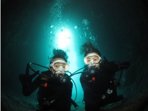 [One group is completely reserved, same-day reservation is OK! ] Highest probability! Blue cave diving! Free photo video & feeding