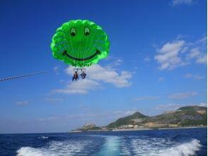[沖繩和北方地區/名護/總部/瀨底島飛板的衝擊海洋Pack 3中的經驗和帆傘運動和圖像