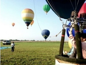 [Shiga ・ Omi Hachiman ・ Biwako area] Recommended for the anniversary! Hot air balloon 45 minutes private flight course