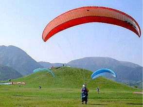 【Shizuoka / Fujinomiya】 Beginner's big welcome! Paraglider Feel free experience picture of flight course (with free lunch)