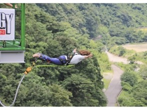 """[Kumamoto Itsuki village height up to 66m! West only bungee image of a jump, """"Itsuki bungee"""""""