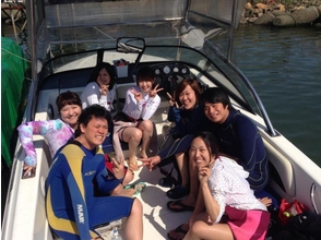 [Osaka Yodogawa] image of the wake board boat charter plan