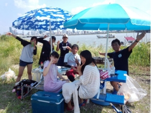 【大阪・淀川】ウェイクボード・半日貸切BBQ付コースの画像