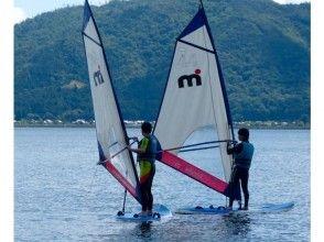 【滋賀/琵琶湖】ウィンドサーフィン ビギナースクール ★初級/1日体験コース★の画像