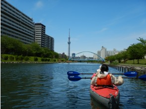 Safe for the first time! Tokyo Sky Tree Kayak Tour [Canoe] Enjoy NO dense leisure in Tokyo.