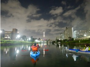 Let's go see the night view of the sky tree! Tokyo Sky Tree Kayak Night View Tour [Canoe] Recommended for friends, women and families in an easy time.