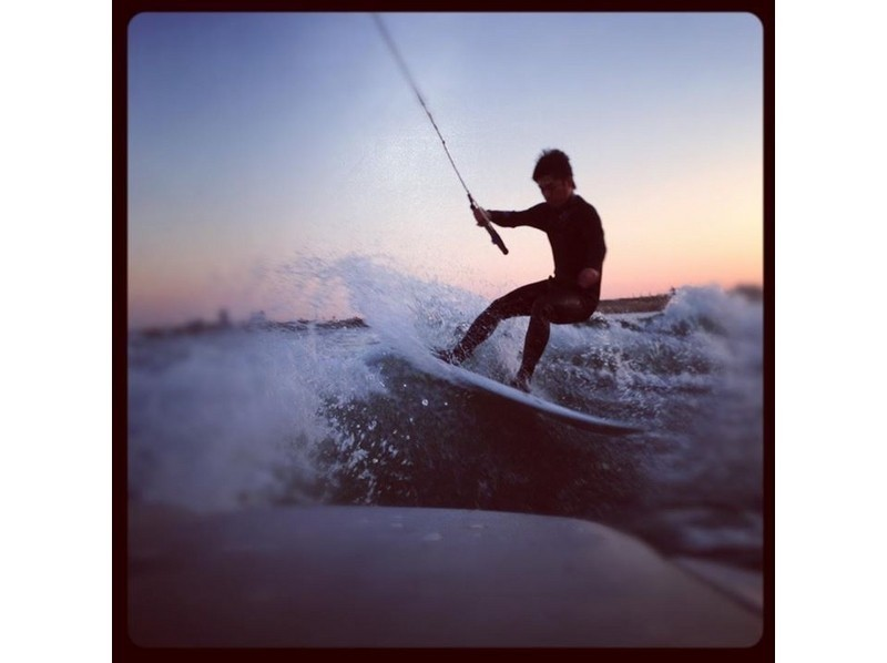 [Good access Edogawa] Wake surfing experience plan <for beginners>の紹介画像