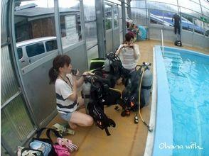 [Shizuoka Izu】 Getting licenses! Open water course [day course × 3 times pool course / sea course]