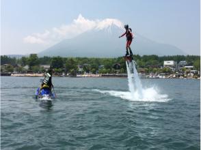 【山梨・山中湖】挑戦してみよう!フライボード体験(初心者コース:15分)の画像
