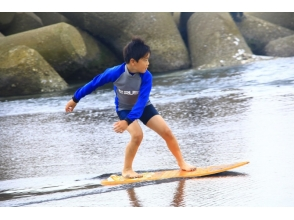 [มิยาซากิซันบีชต้นไม้ต้นหนึ่งใบ] ทะเลและเพื่อนของคุณ! ! เด็กและแน่นอนจูเนียร์★★ภาพ skimboard ของ