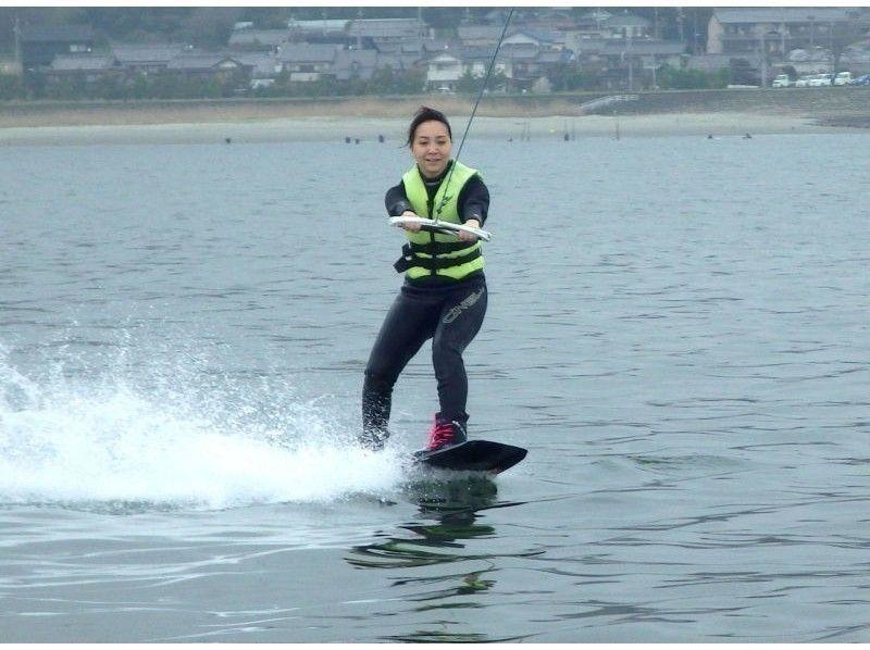 【愛知・三河湾】ウエイクボード おてがる体験ロングコース(水上バイクコース・20分)1名より受付の紹介画像