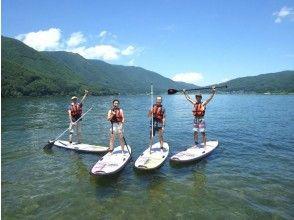 [Nagano ・ Kizaki Lake】 Enjoying SUP and natural charm into clear water and bright green