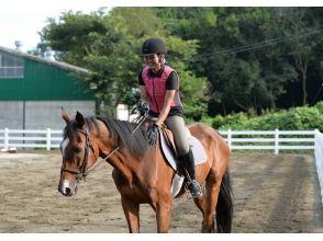 【茨城・守谷】マンツーマンで丁寧に指導します!体験乗馬(1回コース)の画像